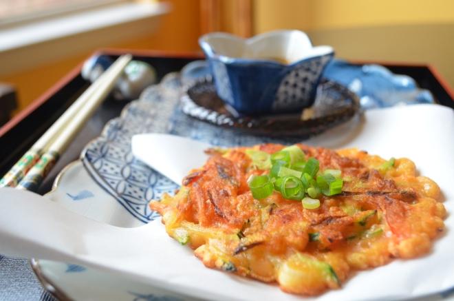 Vegetarian Pajeon Korean Pancakes Bok Choy And Broccoli