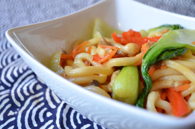 Udon Stir Fry with Bok Choy and Vegetables | Bok Choy and Broccoli